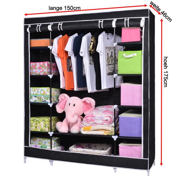 Zimmer Einrichten Ideen Ikea ~ XXL Kleiderschrank Campingschrank Faltschrank Garderobe, 175x 150x 46